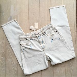BNWT MAJE Light-wash Straight Leg Denim